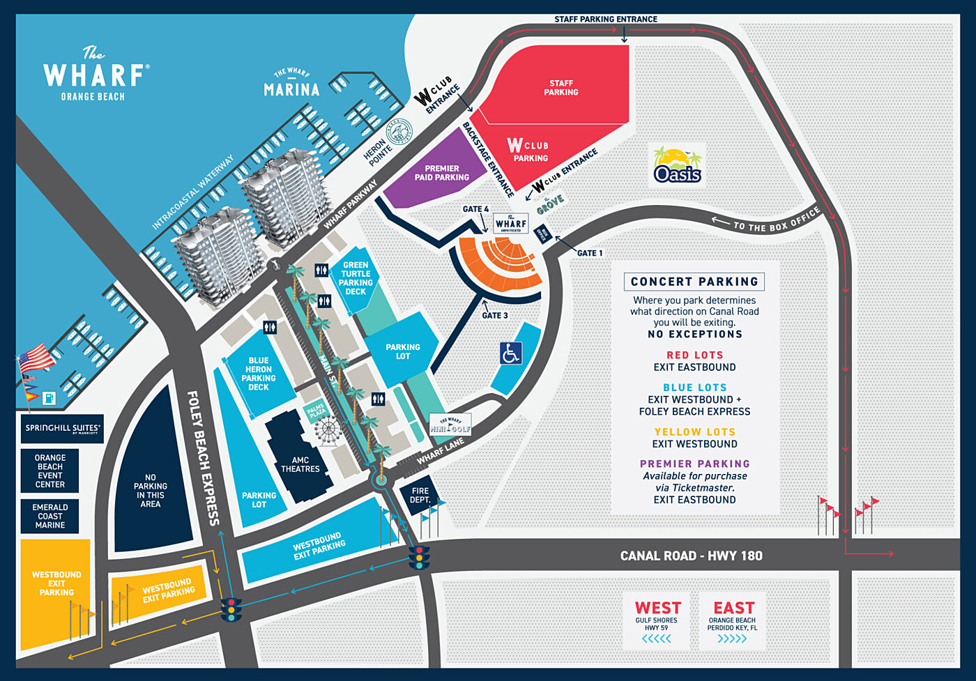 The Wharf Amphitheater Map