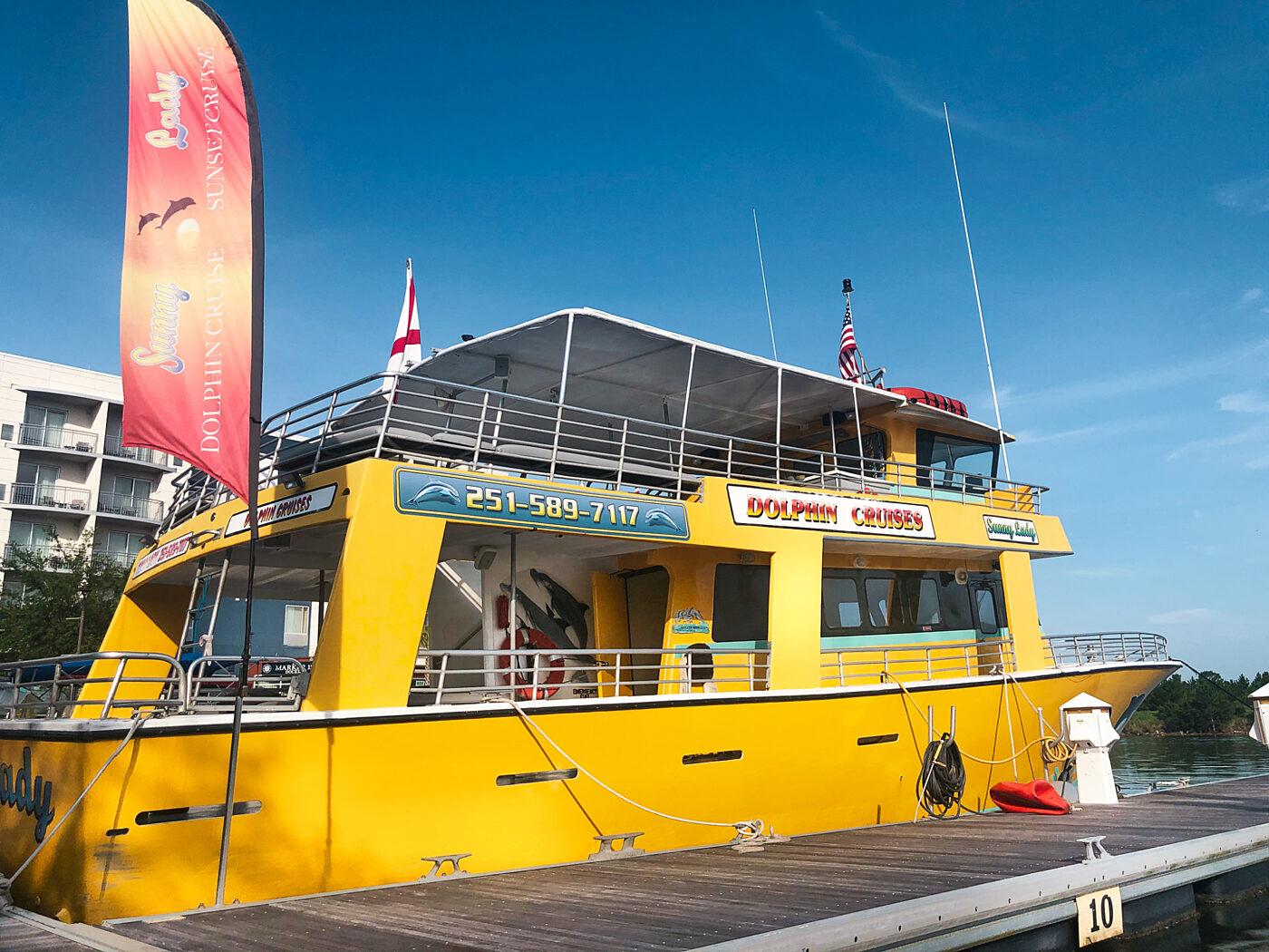The Wharf Orange Beach Sunny Lady Dolphin Sunset Cruise
